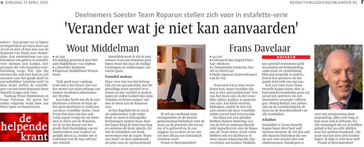 Wout Middelman en Frans Davelaar