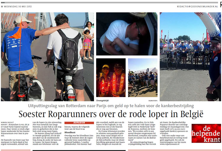 Soester Roparunners over de rode loper in België